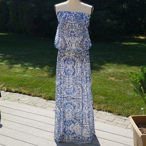NWT Cynthia Rowley Strapless Maxi Dress